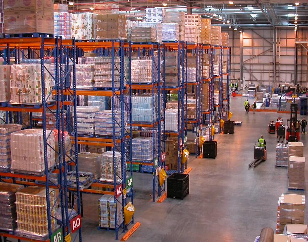 distribution center aisles